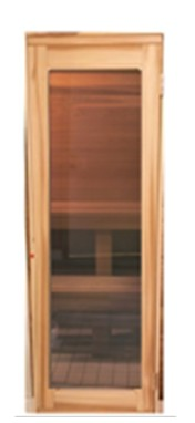Cedar Framed Full Length Clear Glass