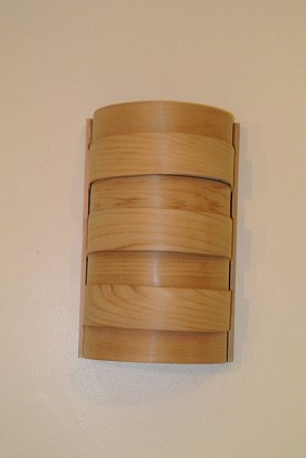Curved Light Shade for Wall Light - Cedar (Out of Stock)