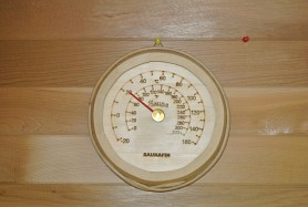 Wood Thermometer - Round