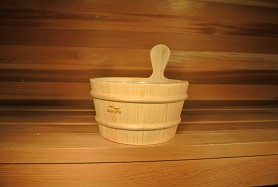 4 Litre (1 gallon) Sauna Bucket Only, No Dipper - Aspen