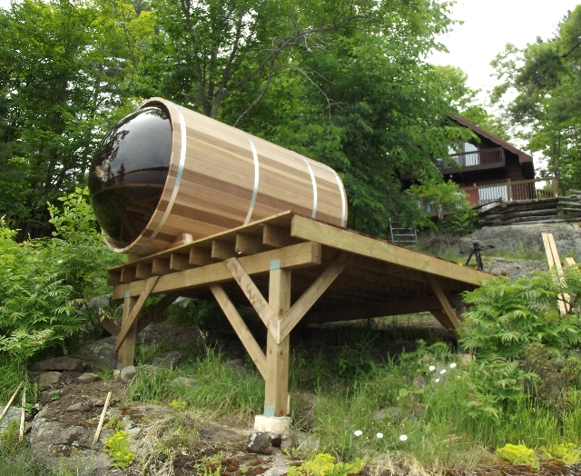 SaunaFin's Panoramic view barrel sauna