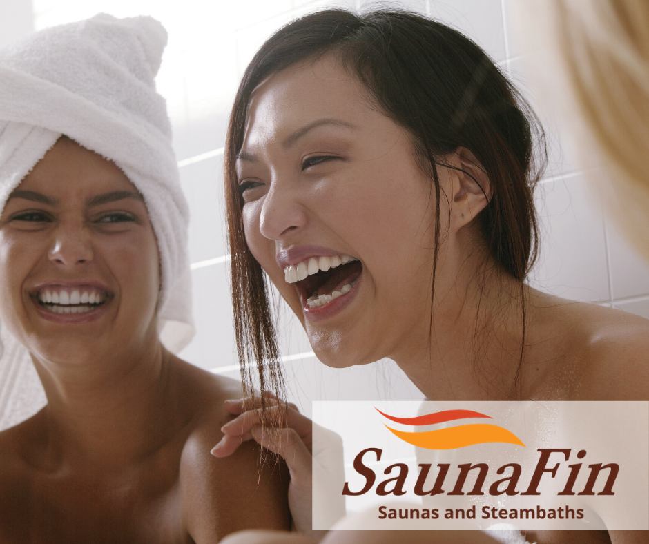 ladies enjoying sauna time together