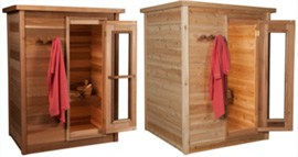 cedar cabin indoor home sauna
